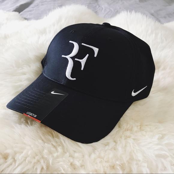 a313cb3e0ee9f Nike Court Roger Federer Premier Black + White Cap