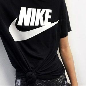 Nike Tops - Nike Black + White Logo Tee