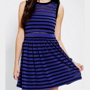 Urban Outfitters black and blue mesh dress