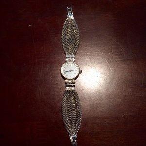 Vintage mesh quartz bracelet watch
