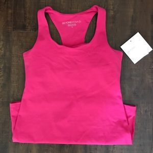 Beyond Yoga Tops - Beyond Yoga Long Racerback Cami NWT Pink Medium
