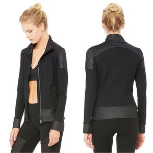 ALO Yoga Jackets & Blazers - alo Yoga Moto Track Jacket