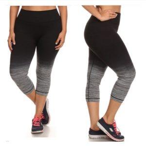 Pants - LAST ONE! (Plus) Ombré Capri athletic pants