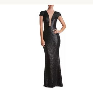 Dress the Population Dresses & Skirts - Dress The Population Michelle Black Sequin Gown XL