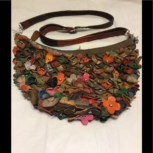Handbags - Crossbody with leather flower detail