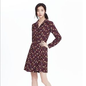 Banana Republic Floral Pleated Skirt Shirtdress