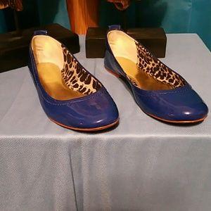 Coach Blue Patent Leather Flats