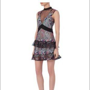 Self Portrait Dresses & Skirts - Self Portrait Overlay Lace Mini Dress
