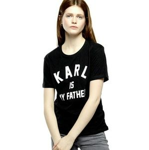 Eleven Paris Tops - Eleven Paris Karl Is My Father Tee