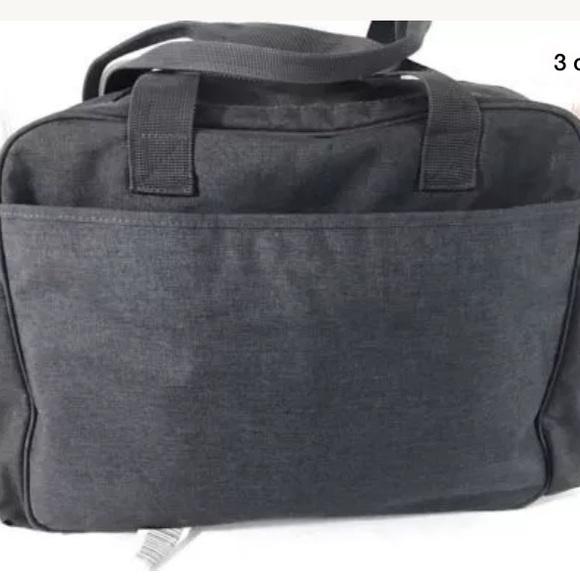 61 off eddie bauer handbags eddie bauer flannel diaper bag gray orange baby from carine 39 s. Black Bedroom Furniture Sets. Home Design Ideas
