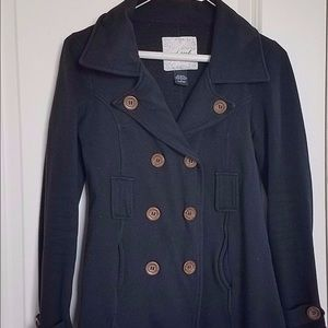 Wet Seal Womens Size. Small Black  Pea Coat Warm