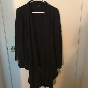 Black Free People long open cardigan