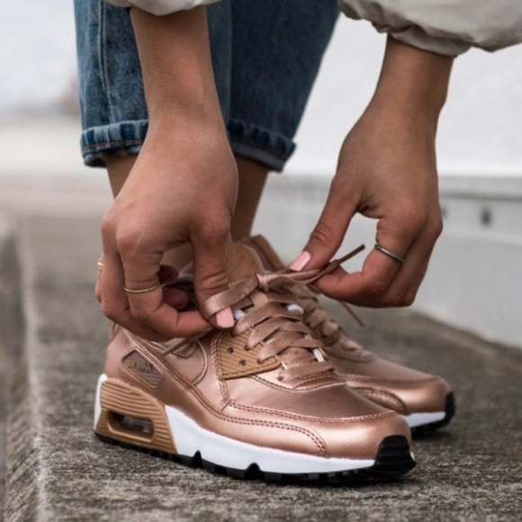 timeless design 732ae d8672 Nike air max 90 rose gold shoes womens shoes