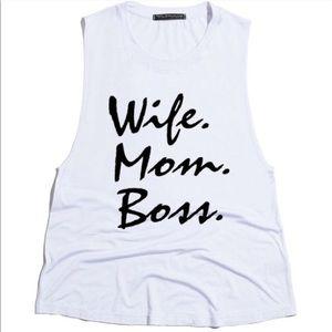 Urban Luxe Design Co. Tops - Wife•Mom•Boss Tank! ✔️