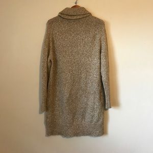 4f057b32290 H M Dresses - Tan knit cowl neck oversized sweater dress