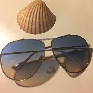 Accessories - Gold aviator sunglasses