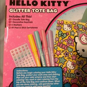 Hello Kitty Bags - Hello Kitty! Glitter Doodle Tote Bag 7f41917026dd0