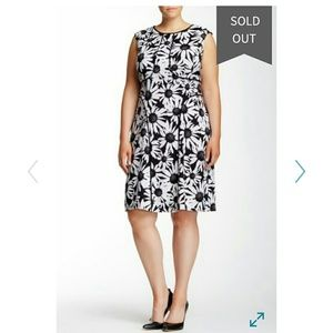London Times Dresses & Skirts - London Times Black and White Floral Dress 22W