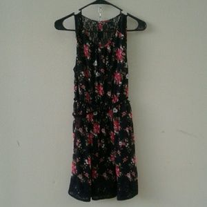 Black flower dress!!