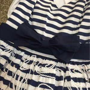 Lilly Pulitzer Dresses - Lilly Pulitzer Striped Embroidered Dress