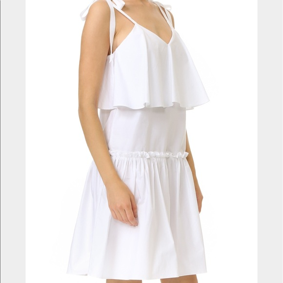 English Factory Dresses - English Factory Woven White Dress