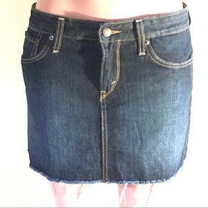 LEVI's Frayed Denim Mini Skirt Size 10