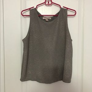 Sparkly grey top perfect for fall