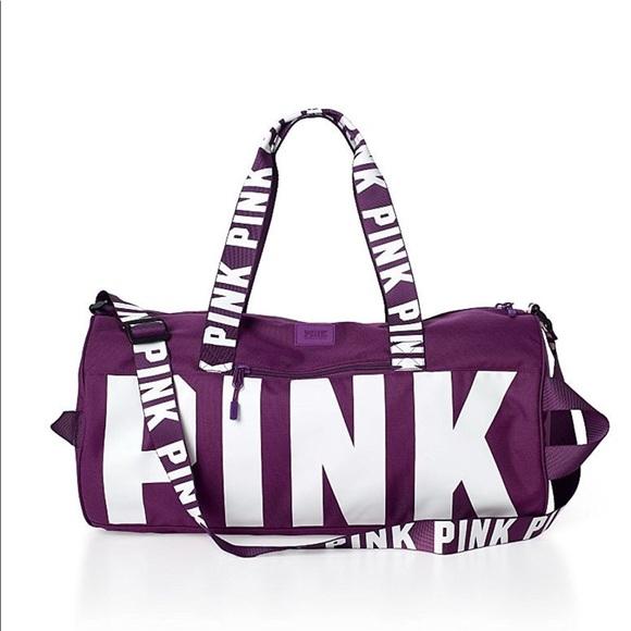 85d9e52a927 PINK Victoria s Secret Bags   Sale Vs Pink Maroon Duffle Bag   Poshmark