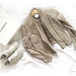 Givenchy Jackets & Blazers - Leather GIVENCHY Double Zip Moto Bomber Jacket