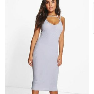 Boohoo Petite Dresses & Skirts - Boohoo grey strappy dress