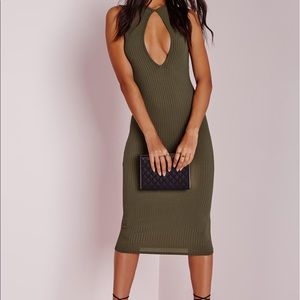 Missguided Ribbed Midi Dress