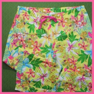 All For Color Other - Hawaiian Print Cotton Lounge Pants NWOT