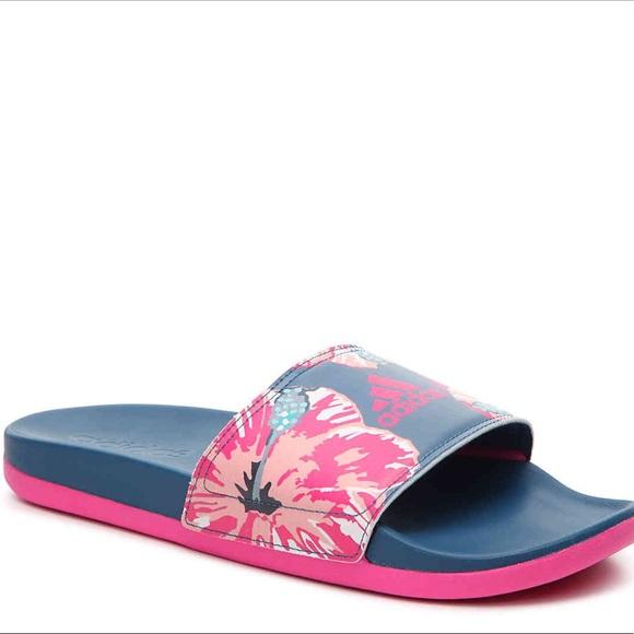 2adidas adilette slides floral