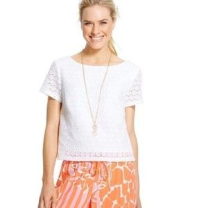 Lilly Pulitzer for Target Tops - LILLY PULITZER FOR TARGET Cropped Eyelet Top