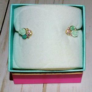 Jewelry - HP Dainty Gold Teal & Jewel Cuff