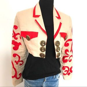 Gorgeous ornate embroidery vintage jacket /blazer