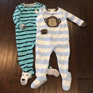 Carter's Other - Bundle of 2 Carters Boys' Footed Pajamas - 18 mos