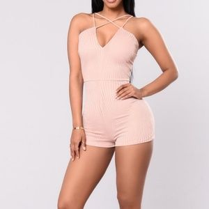 Other - BNWT cute nude romper