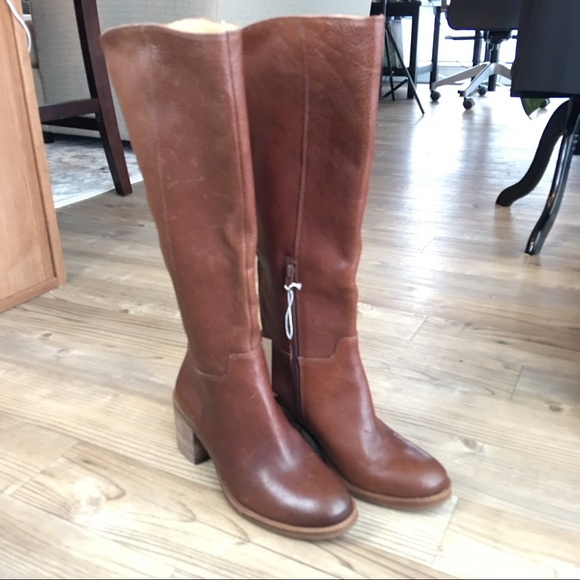 fb68216cc0b1 Lucky Brand Ritten Brown Leather Riding Boots