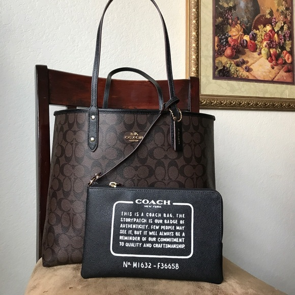 2beb307a16 NEW PRICE   NEW reversible Coach Bag