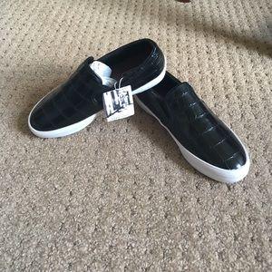 ⚡️2xHP⚡️Zara Embossed Leather Slip-Ons