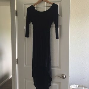 Xs forever 21 black dress hi lo
