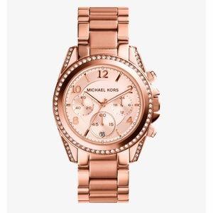 Michael Kors Blair Rose Gold Watch Authentic
