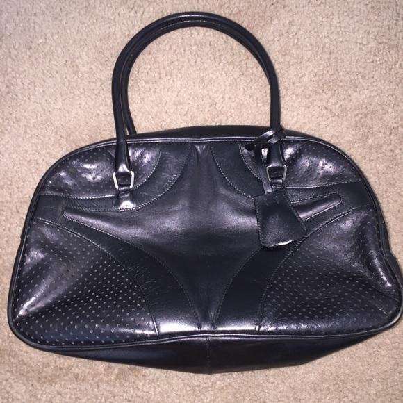 afa8c50ece5c Vintage Prada Bowler bag black leather. M_592db1e52fd0b7f82f06dd64