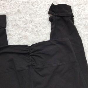 Capezio Pants - Studio by Capezio Foot Black Leggings Medium