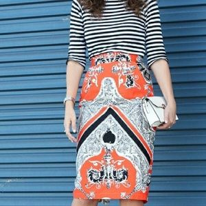 Asos pattern pencil skirt