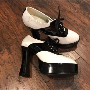 Ellie Shoes - 🌻 Ellie Patent Leather Oxford Platform Pumps