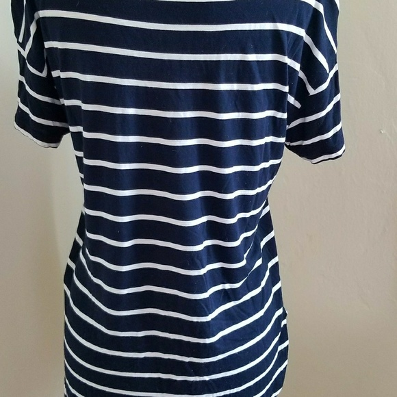 50 Off Gap Tops Gap Navy And White Striped Boat Neck T