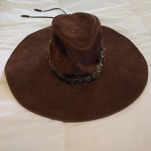 Staring at the stars suede floppy western hat