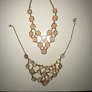 Jewelry - Two pink statement necklaces!